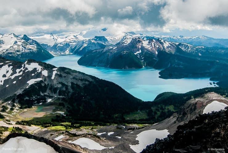 Garibaldi Lake, Canada. Aerial view