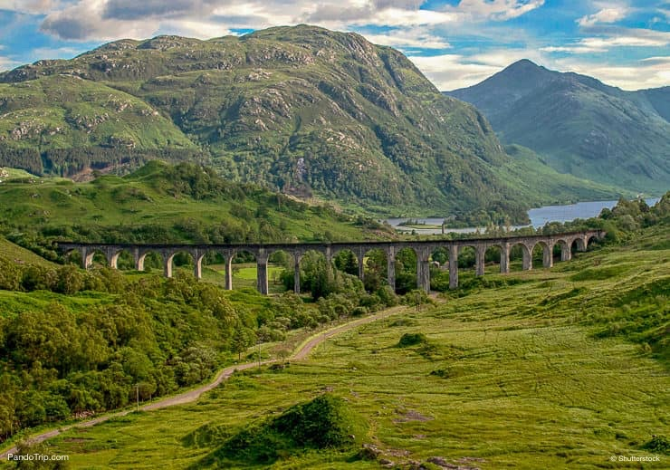 Glenfinnan Viaduct in Scotland