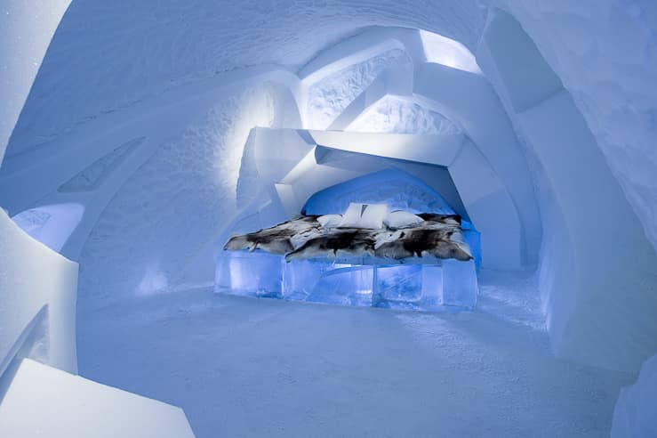 Ice Hotel Room in Jukkasjarvi, Sweden