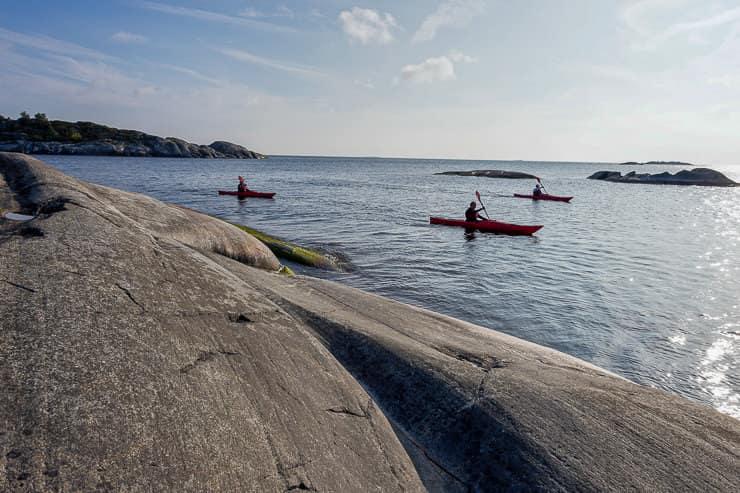 Kayaks in Stockholm archipelago