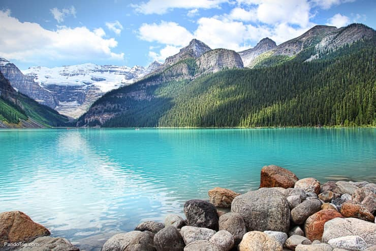 Lake Louise in Banff National Park in the Rocky Mountains of Alberta, Canada