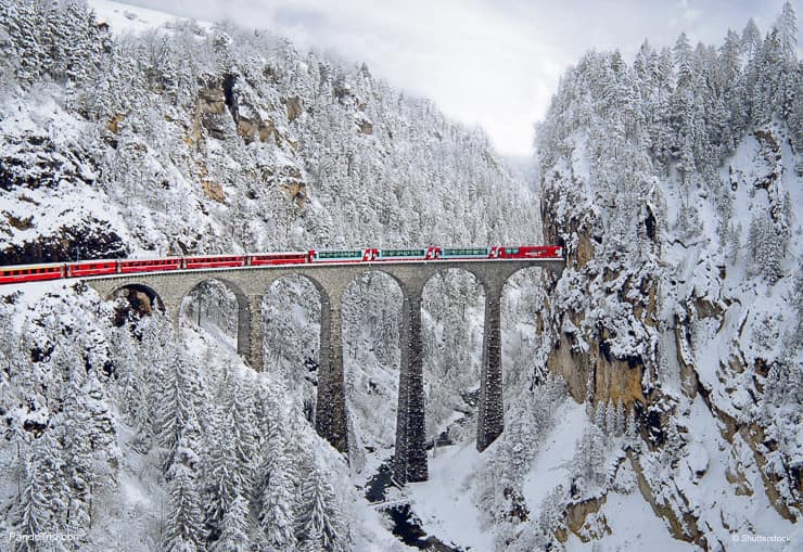 Landwasser Viaduct Bridge, Filisur, Switzerland