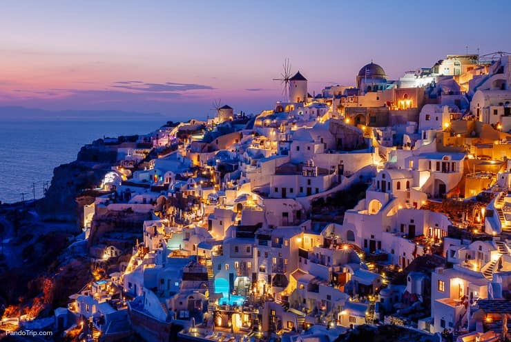 Oia in Santorini, Greece