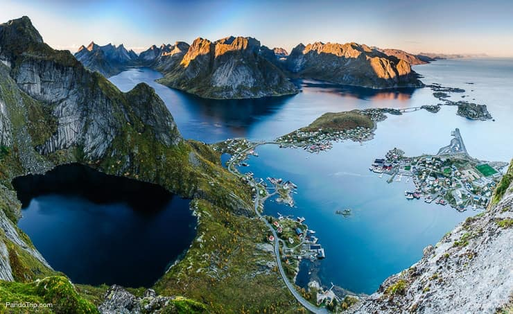 Reine in Lofoten islands, Norway, from Reinebringen ridge