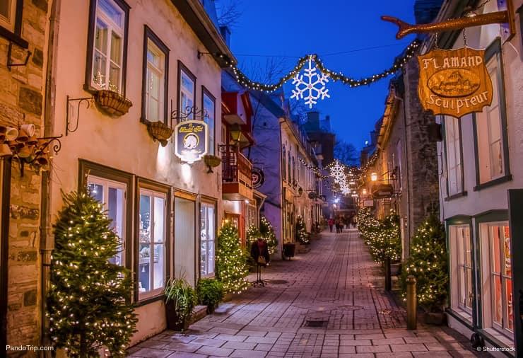 Rue du Petit-Champlain in Quebec, Canada