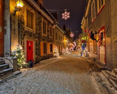 Embrace Christmas Spirit in Beautiful Quebec City, Canada