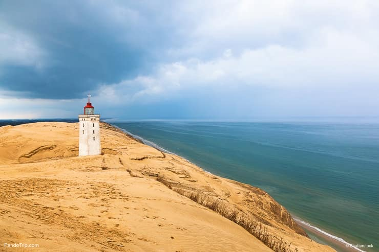 The abandoned Rubjerg Knude Lighthouse in Denmark