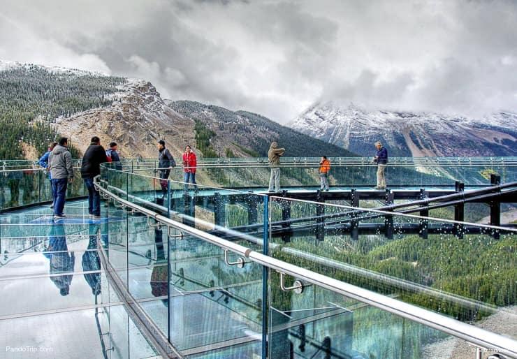 The glacier skywalk near the Columbia Icefield in Jasper National Park, Alberta, Canada