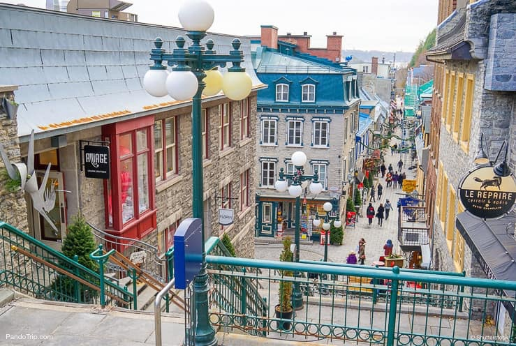 The streets of the historic Petit Champlain district