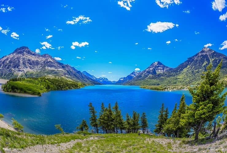 The view of Upper Waterton Lake, Canada