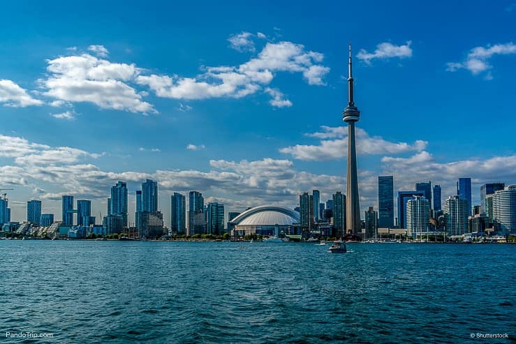 Toronto's skyline over Lake Ontario