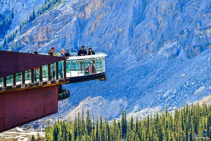 Tourists at Glacier Skywalk, Canada