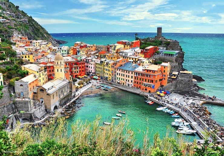 Vernazza village in Cinque Terre area, Italy