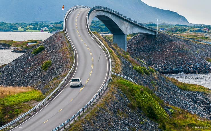 World famous Atlantic road bridge