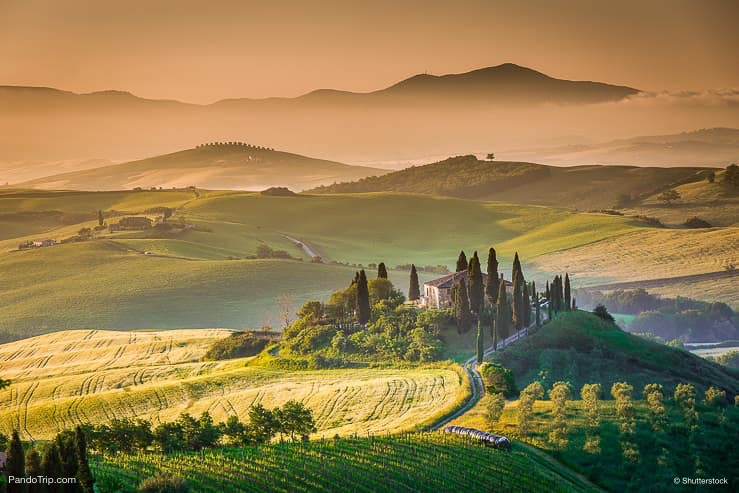 Amazing Landscape Of Val D Orcia Tuscany Italy