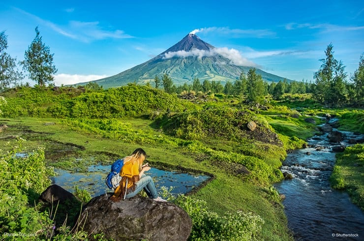 Amazing view of Mayon Volcano in Philippines