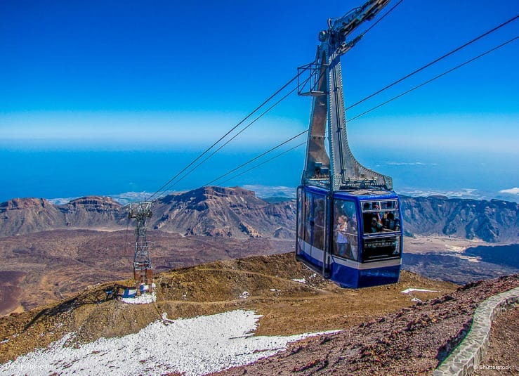 Cable Car view from Mount Teide, Tenerife, Canary Islands, Spain