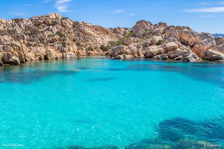 Cala Coticcio Beach on Caprera island, Maddalena Archipelago, Sardinia, Italy