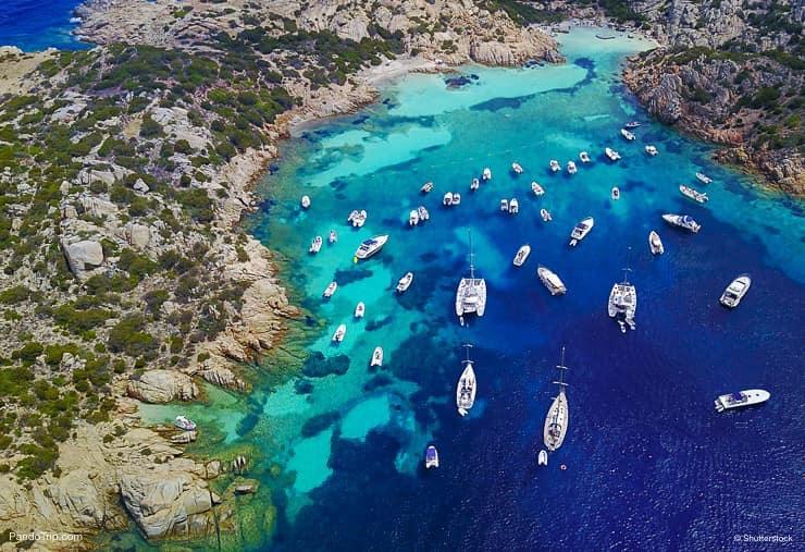 Cala Napoletana on the coastline of Caprera Island, Maddalena Archipelago, Sardinia, Italy