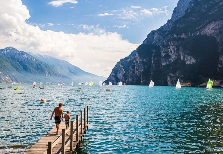 Lake Garda or Lago di Garda in Italy