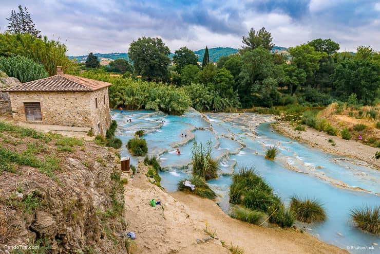 Natural spa, Cascate del Mulino, Saturnia, Italy