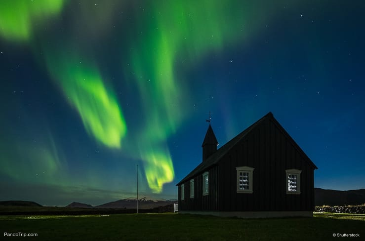 Northern Lights in Budir, Iceland