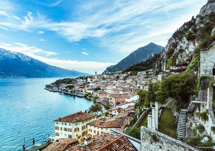 Panorama of Limone sul Garda, Lake Garda, Italy