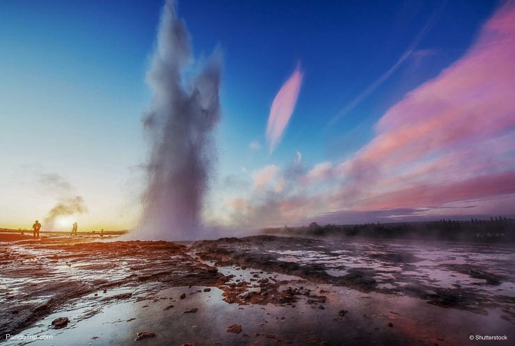 Strokkur geyser eruption in Iceland