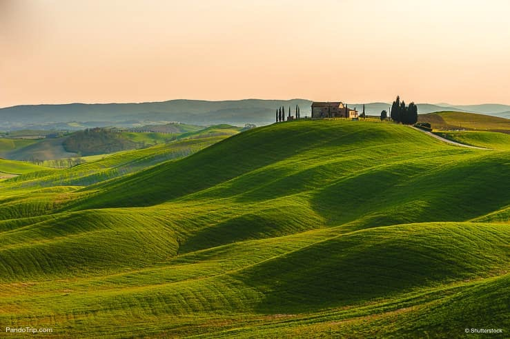 Val d'Orcia beautiful landscape in Tuscany, Italy