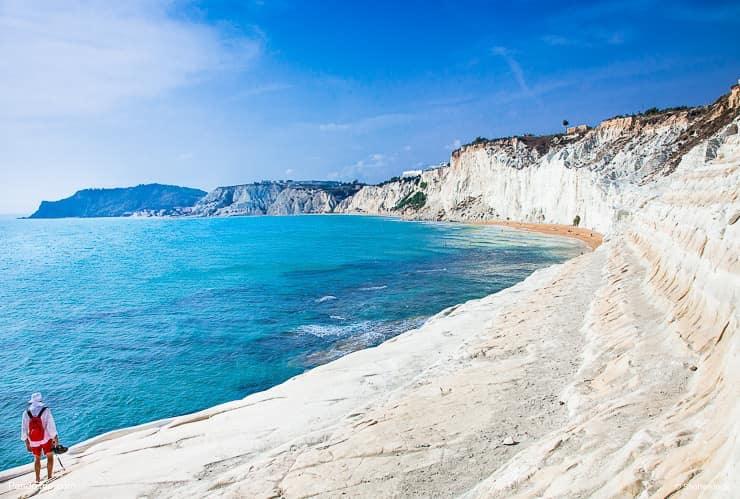 White Marl Cliffs, Scala dei Turchi, Sicily, Italy