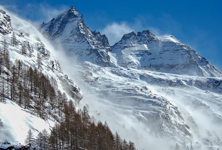 Winter at Gran Paradiso National Park, Valle d'Aosta, Italy