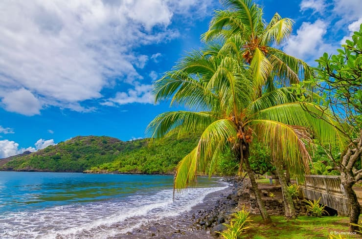 Beach at Nuku Hiva, Marquesas Islands, French Polynesia