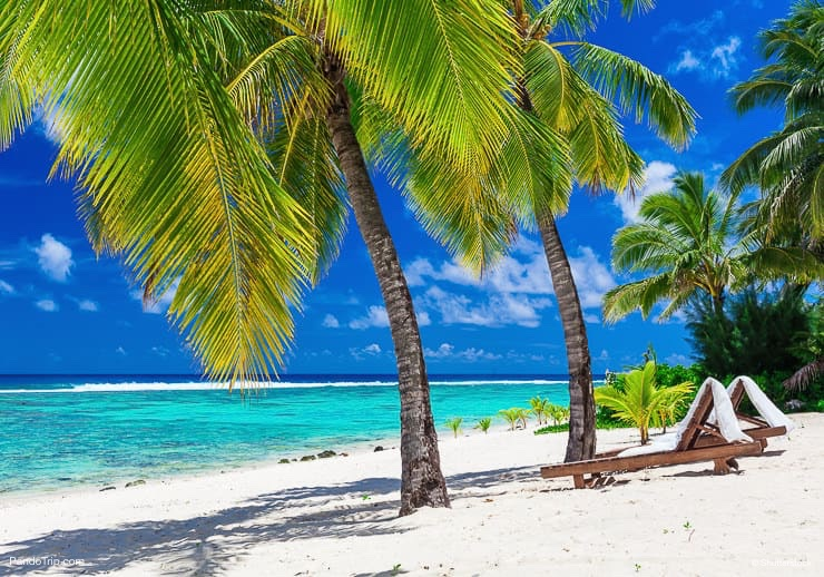 Amazing Beach at Rorotonga, Cook Islands