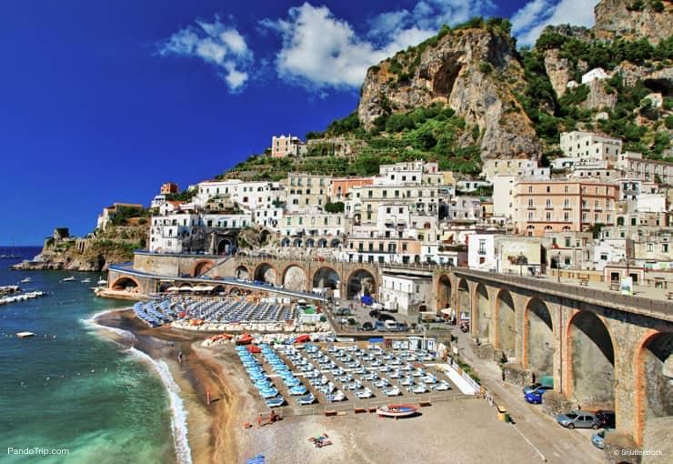 Atrani Beach, Amalfi coast, Italy