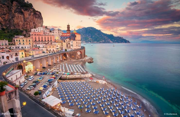 Atrani Beach. One of the beast beaches in Amalfi coast, Italy