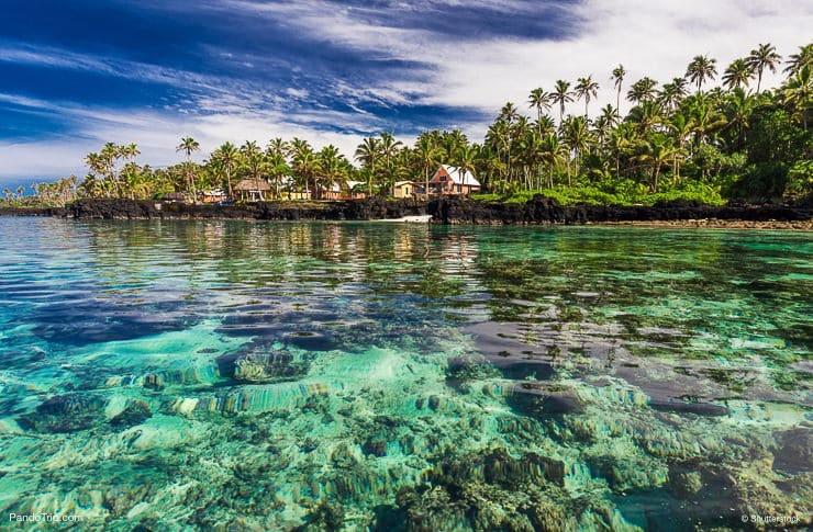 Coral reef lagoon, south side of Upolu Island, Samoa