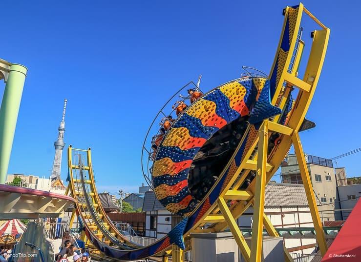 Disk O ride at Hanayashiki Amusement Park