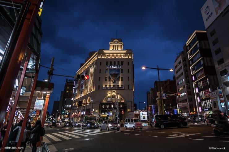 Ekimisi Asakusa, Shopping Center in Tokyo, Japan at night