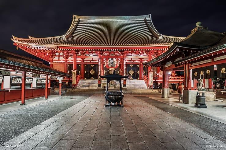 Famous Sensoji Temple in Asakusa, Tokyo