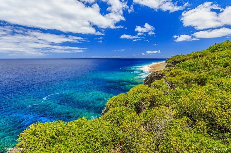 Hikutavake reef in Alofi. Niue Island