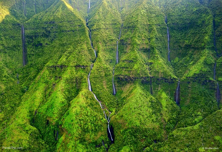 Mount Waialeale known as the wettest spot on Earth, Kauai, Hawaii