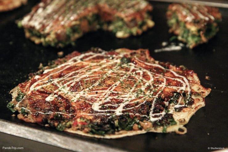 Okonomiyaki or Japanese Pizza