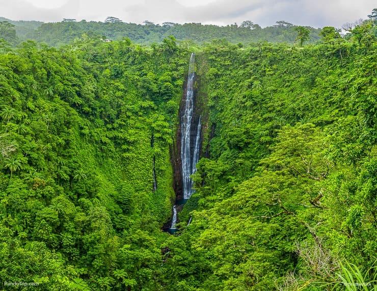 Papapapaitai falls at Upolu island, Samoa