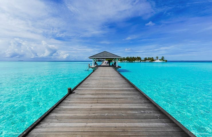 Path to Paradise. Bora Bora, French Polynesia, Pacific Ocean