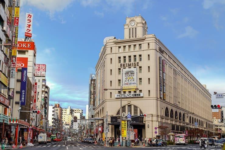 Shopping mall Ekimise Asakusa in Tokyo