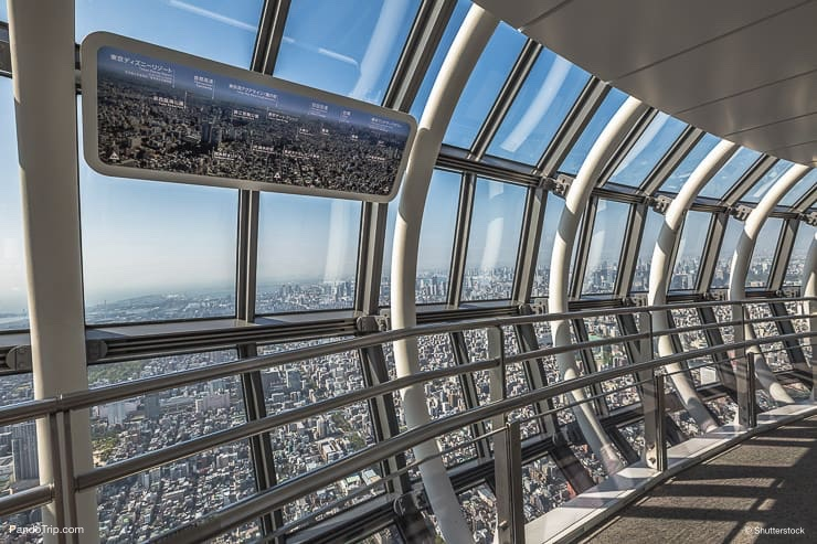 Tembo Gallery observation deck, the highest skywalk in the world. Tokyo Sky Tree