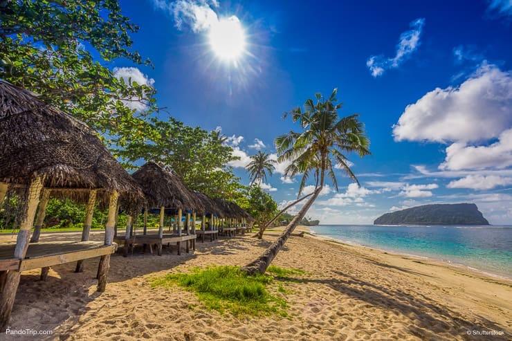 Tropical beach, Upolu island, Samoa