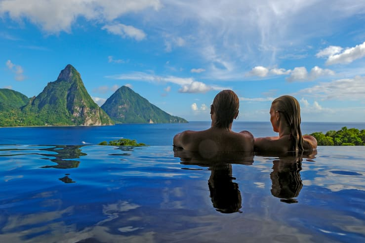 A poll with a view. Jade Mountain, St Lucia