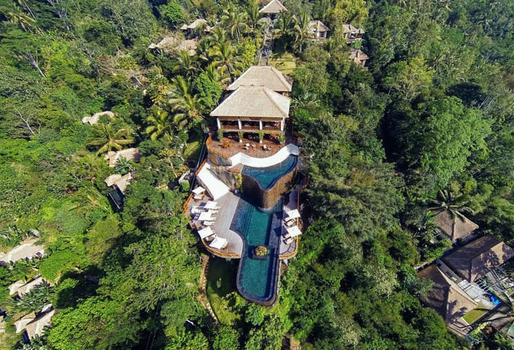 Aerial view of the pool at Ubud Hanging Gardens, Bali, Indonesia4