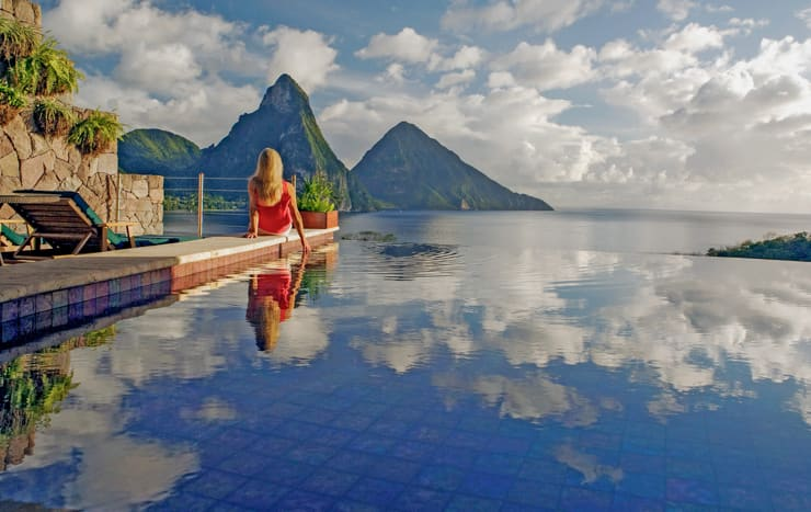 Amazing Pool at Jade Mountain, Saint Lucia